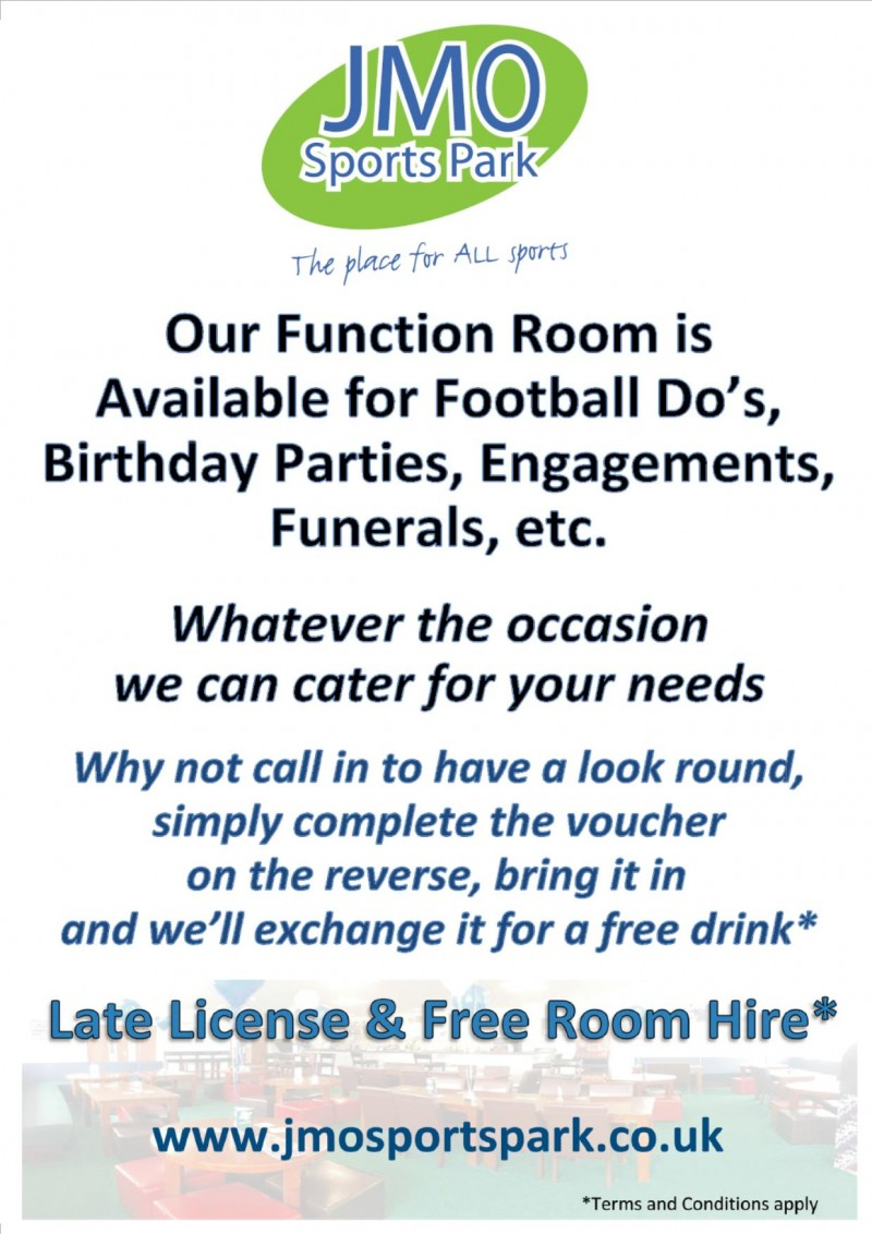 Late Licence and Free to Hire - You can book our Clubhouse for your Function