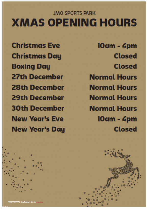 Christmas Opening Times 2014