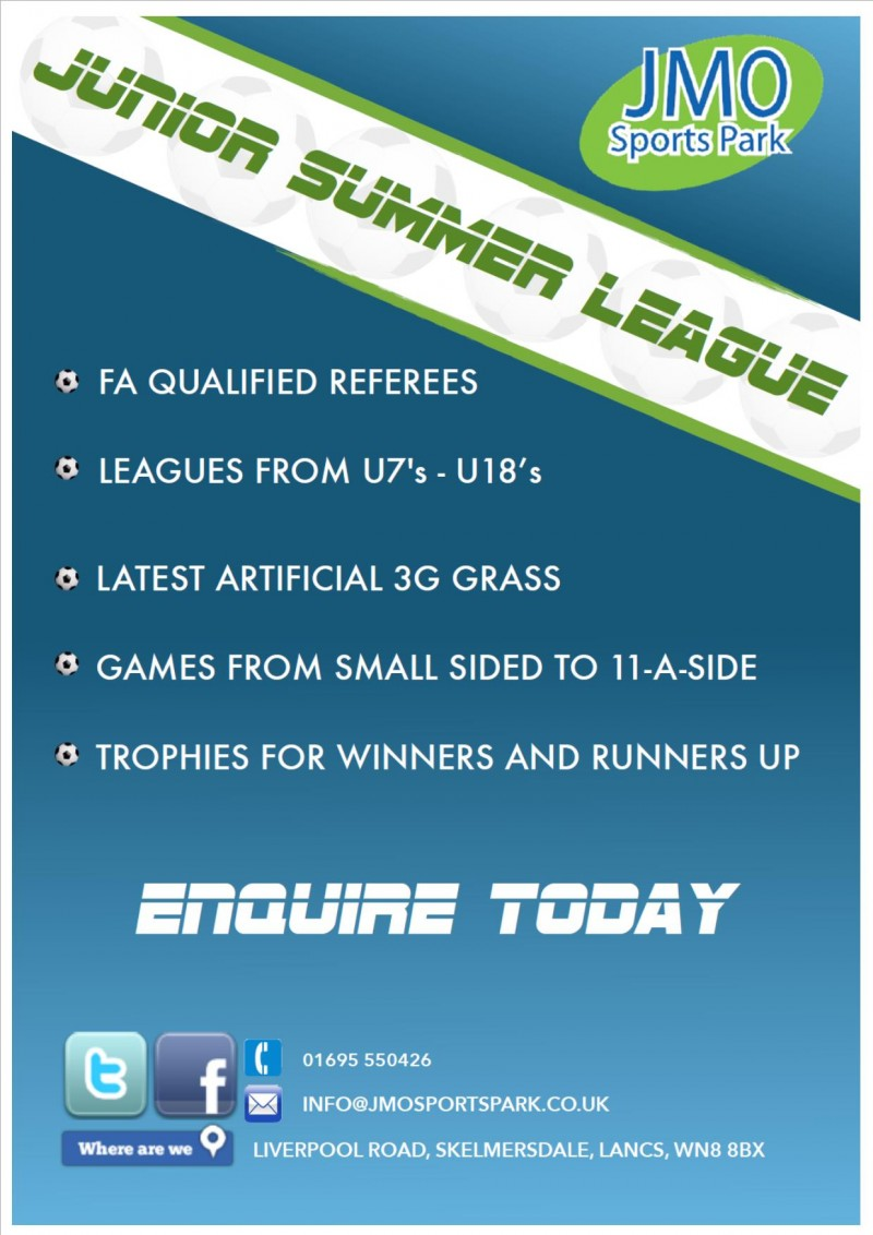 Generic Junior Summer League Poster