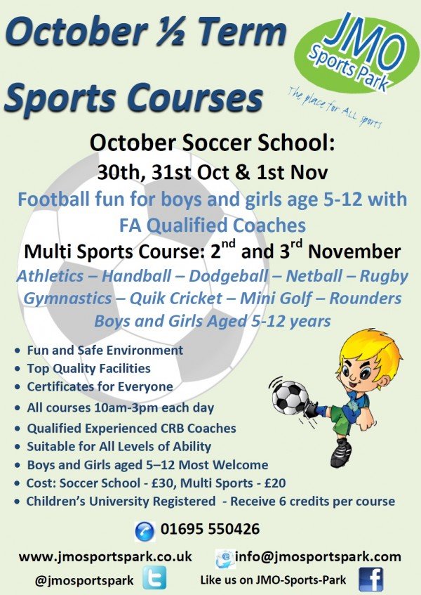 October 2017 Sports Courses